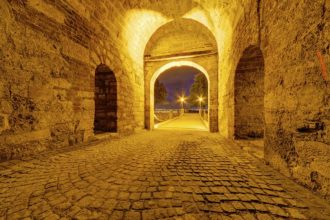 Medieval gate at Belgrade fortress, Belgrade, Serbia