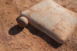 Old baseball and mound.