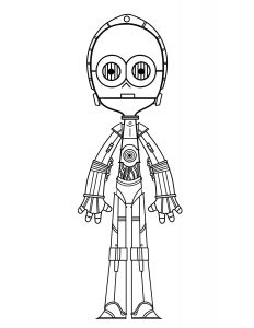 C3PO Coloring Page