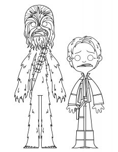 Han and Chewy Coloring Page