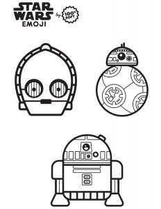 Star Wars Emoji Coloring Page